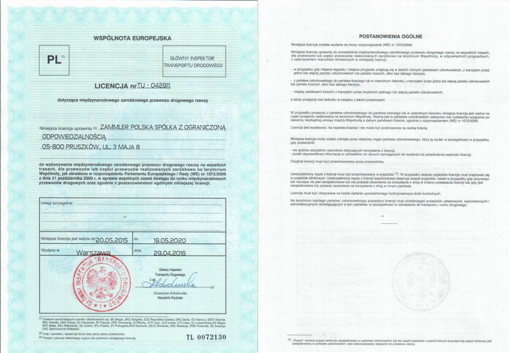 Licencja nr TU – 042911